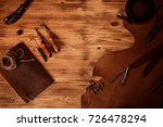leather craft. tanner's tools... | Shutterstock . vector #726478294