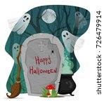halloween vector illustration.... | Shutterstock .eps vector #726479914
