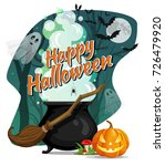 happy halloween. vector flyer.... | Shutterstock .eps vector #726479920
