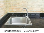 faucet and kitchen sink with... | Shutterstock . vector #726481294