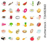 bakehouse icons set. isometric... | Shutterstock .eps vector #726482860
