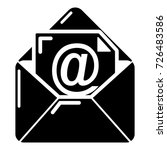 email icon. simple illustration ...