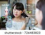 smart mirror concept. various... | Shutterstock . vector #726483823