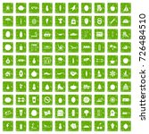 100 wellness icons set in... | Shutterstock .eps vector #726484510