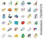 calendar icons set. isometric... | Shutterstock .eps vector #726485176