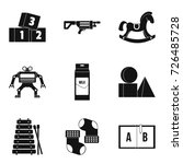 preparatory class icons set....