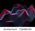 big data abstract visualization ... | Shutterstock .eps vector #726486244