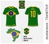 soccer jersey or football kit ... | Shutterstock .eps vector #726487519