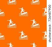 surfer man pattern repeat... | Shutterstock .eps vector #726487900