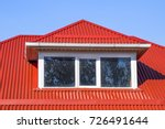 house with plastic windows and... | Shutterstock . vector #726491644