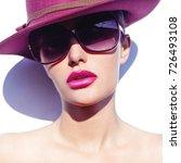 beauty fashion portrait of... | Shutterstock . vector #726493108