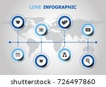 infographic design with love... | Shutterstock .eps vector #726497860
