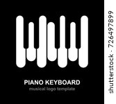 Piano Keyboard Logo. Music...