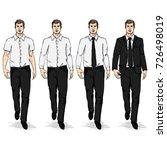 vector set of sketch men models....   Shutterstock .eps vector #726498019