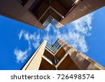 view in between two office... | Shutterstock . vector #726498574