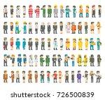 flat design professions set... | Shutterstock .eps vector #726500839