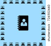 notebook icon  organizer vector ... | Shutterstock .eps vector #726502660