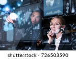 two business persons in front...   Shutterstock . vector #726503590