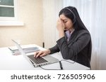 call center operator. feeling... | Shutterstock . vector #726505906