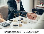 businessman shaking hands to... | Shutterstock . vector #726506524