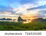 sunrise time at samed nang chee ... | Shutterstock . vector #726510100