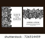vintage delicate invitation... | Shutterstock . vector #726514459