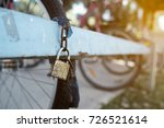 security lock blocking the... | Shutterstock . vector #726521614