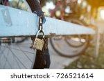 security lock blocking the... | Shutterstock . vector #726521614