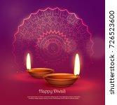 beautiful hindu festival of... | Shutterstock .eps vector #726523600