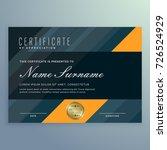 dark certificate of... | Shutterstock .eps vector #726524929