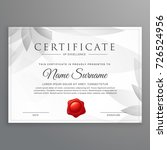 clean certificate of excellence ... | Shutterstock .eps vector #726524956