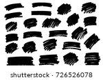 vector black paint  ink brush... | Shutterstock .eps vector #726526078