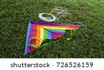 kite with a long kite line | Shutterstock . vector #726526159