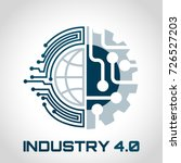 industry 4.0 concept business... | Shutterstock .eps vector #726527203