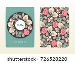 cover design with floral... | Shutterstock .eps vector #726528220