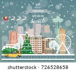 merry christmas and happy new... | Shutterstock .eps vector #726528658