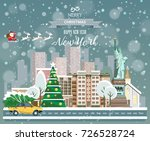 merry christmas and happy new... | Shutterstock .eps vector #726528724