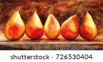Still Life Of Pears. Appetizin...