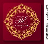 decorative floral pattern. gold ...   Shutterstock .eps vector #726532396