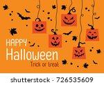 happy halloween day  halloween... | Shutterstock .eps vector #726535609
