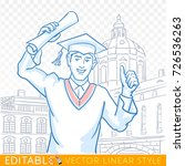 education  graduation  gesture... | Shutterstock .eps vector #726536263
