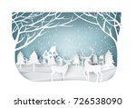 paper art landscape of... | Shutterstock .eps vector #726538090