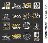 jazz festival logos set... | Shutterstock .eps vector #726538414
