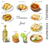 mexican cuisine set. collection ... | Shutterstock .eps vector #726538666