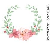 watercolor flower traditional... | Shutterstock . vector #726542668