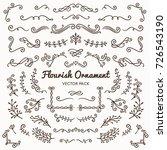 flourish ornaments calligraphic ... | Shutterstock .eps vector #726543190