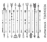 set collection of arrows icons... | Shutterstock .eps vector #726543226