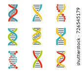 colorful dna icons set. | Shutterstock .eps vector #726545179