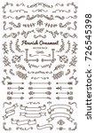 flourish ornaments calligraphic ... | Shutterstock .eps vector #726545398