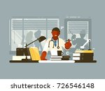 chief doctor of hospital in...   Shutterstock .eps vector #726546148